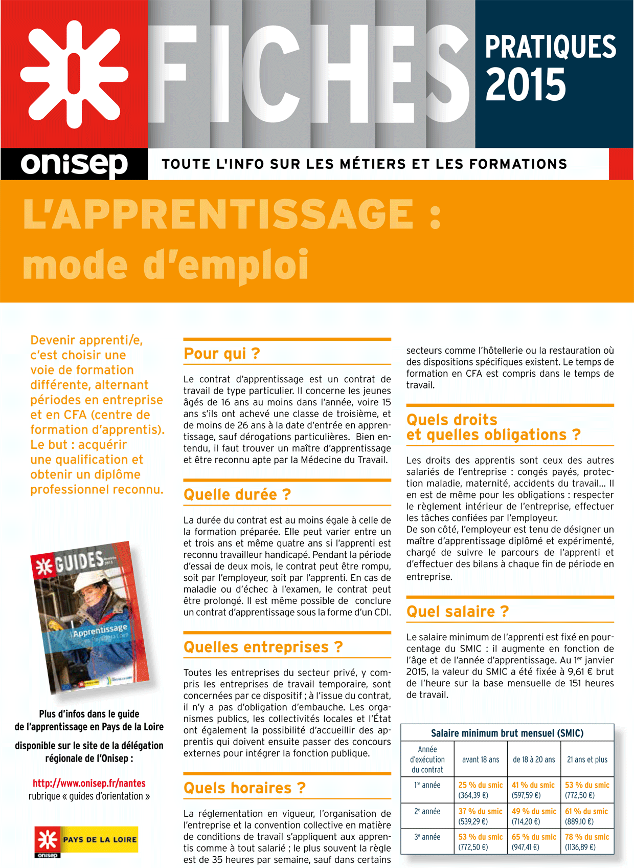 L 39 apprentissage mode d 39 emploi onisep for Alarme verisure mode d emploi