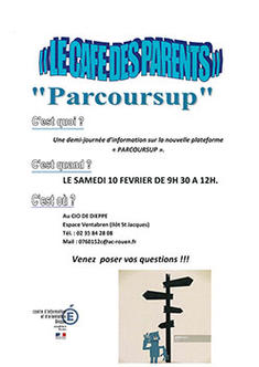 """Le café des parents"" Parcoursup"